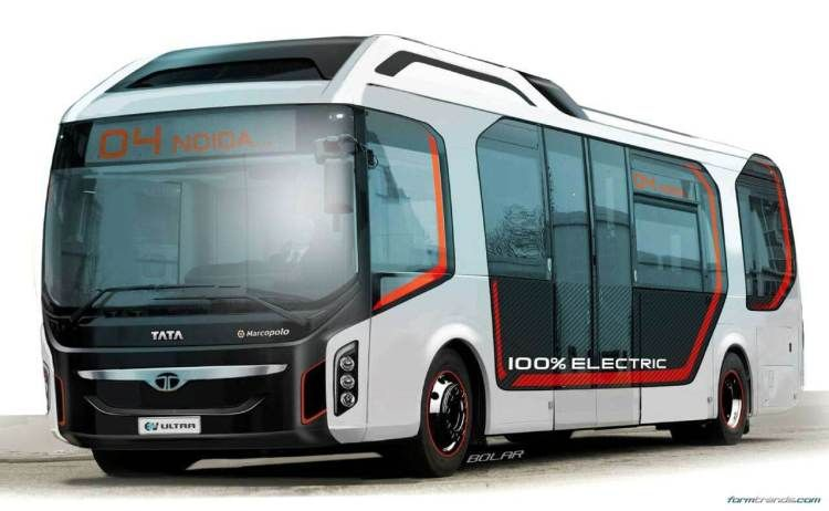 Tata Ultra Electric Bus Concept Looks To Future Of Public Transport In 2020 Bus Commercial Vehicle Public Transport