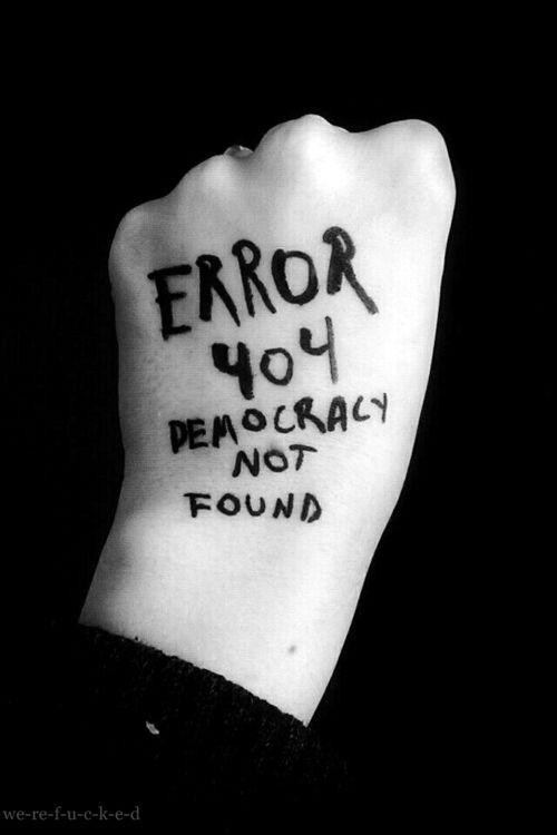 Democracia no encontrada.