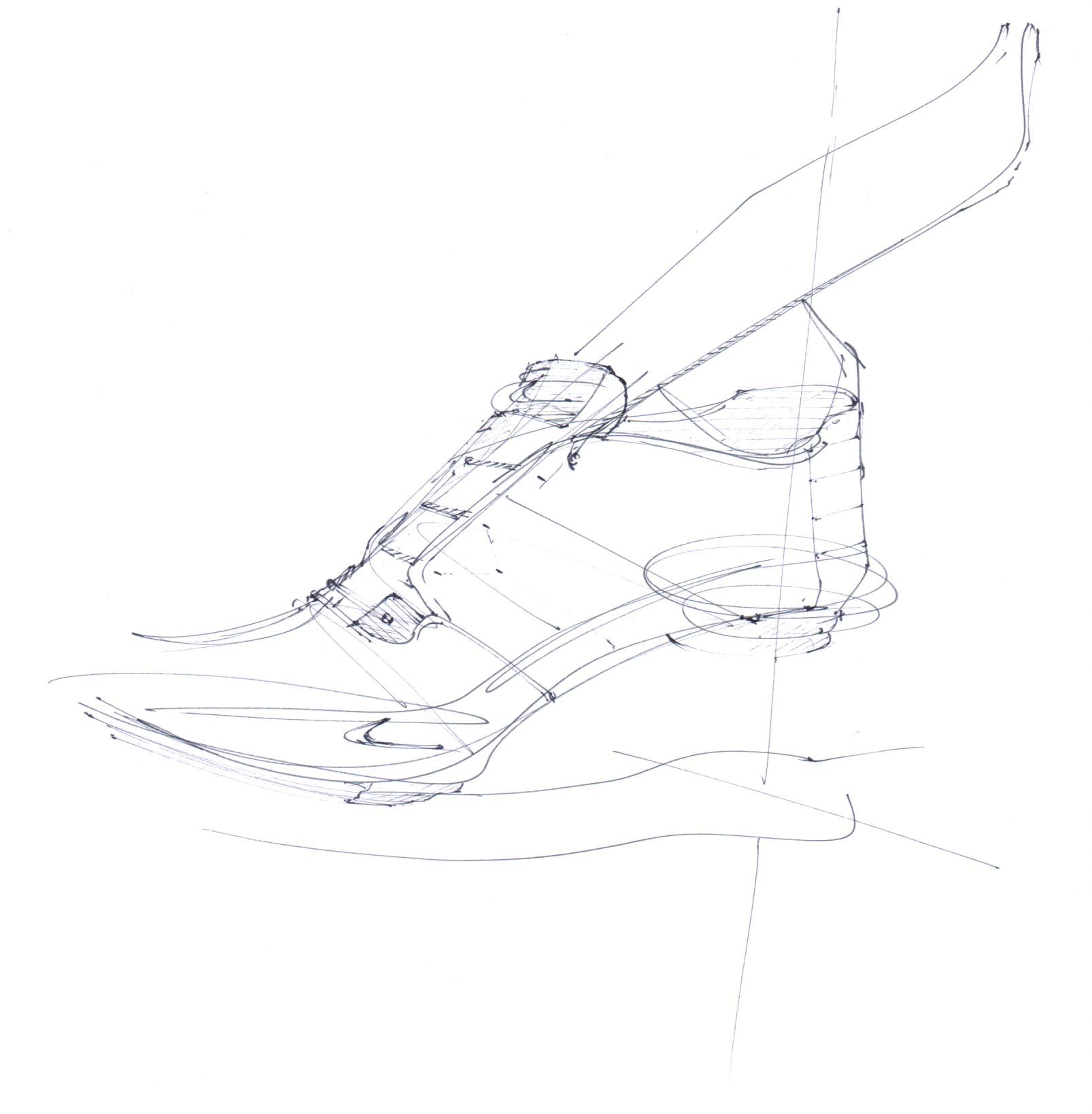 Nike training sneakers - quick sketching - Chung Chou-Tac - 2014