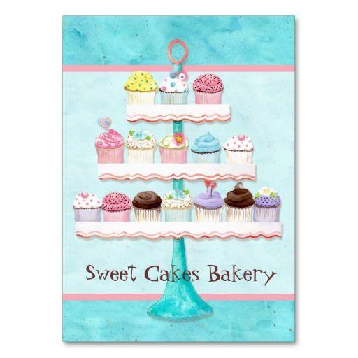 Custom cupcake sweet shoppe business cards custom cupcakes custom cupcake sweet shoppe business cards reheart Choice Image