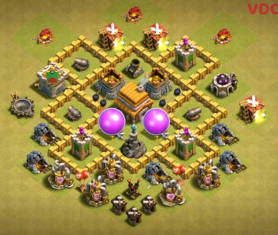 Clash Of Clans War Base Th5
