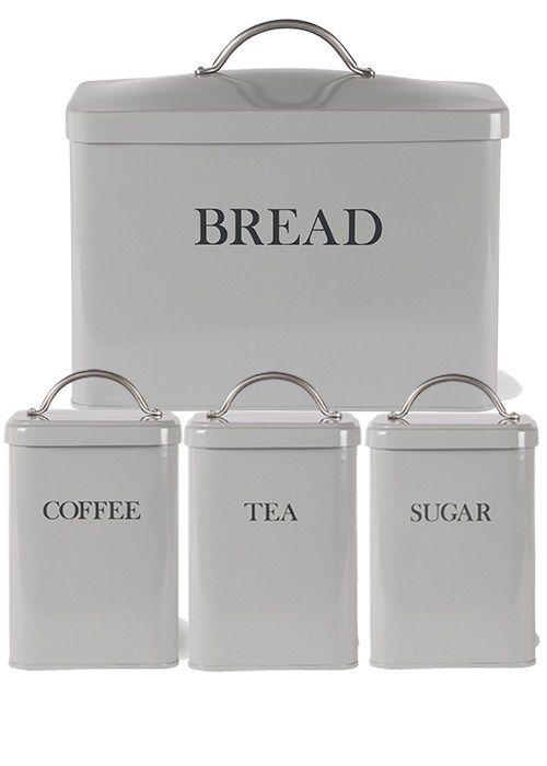 White Kitchen Bin Set