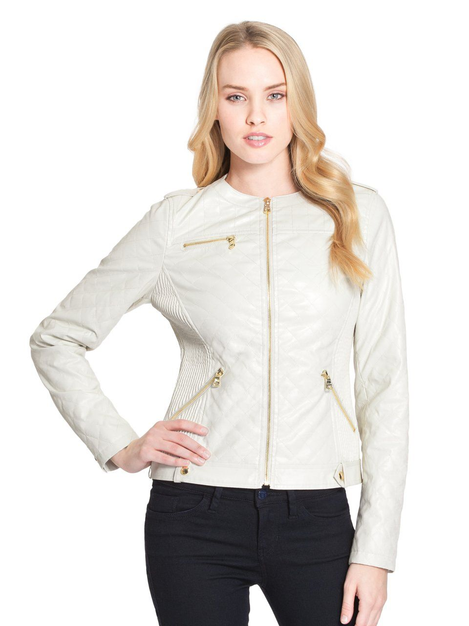 GUESS Skye Faux-Leather Jacket