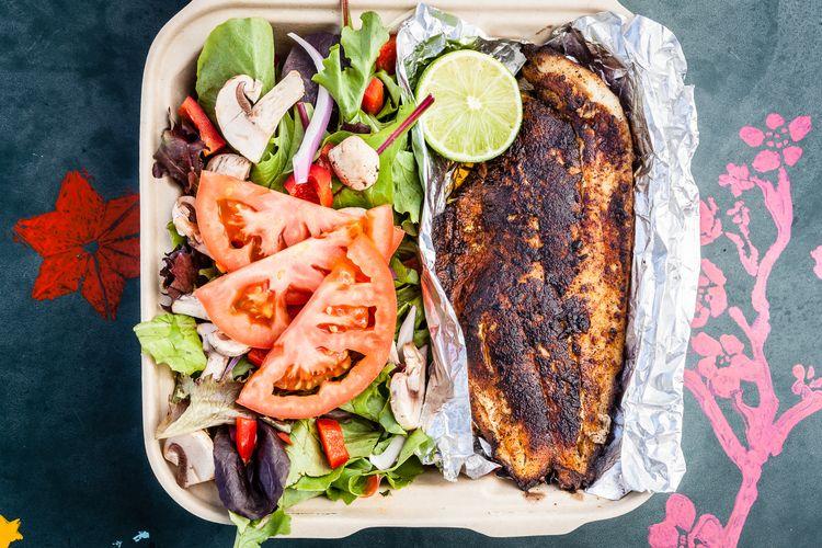 Tilapia salad Austin, TX food trucks food photography