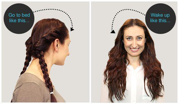 Overnight Hair Styles Beautyheaven Overnight Hairstyles Air Dry Hair Wavy Hair Overnight