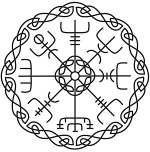 vegvisir this runic or viking compass is said to help the bearer see the way in a storm even. Black Bedroom Furniture Sets. Home Design Ideas