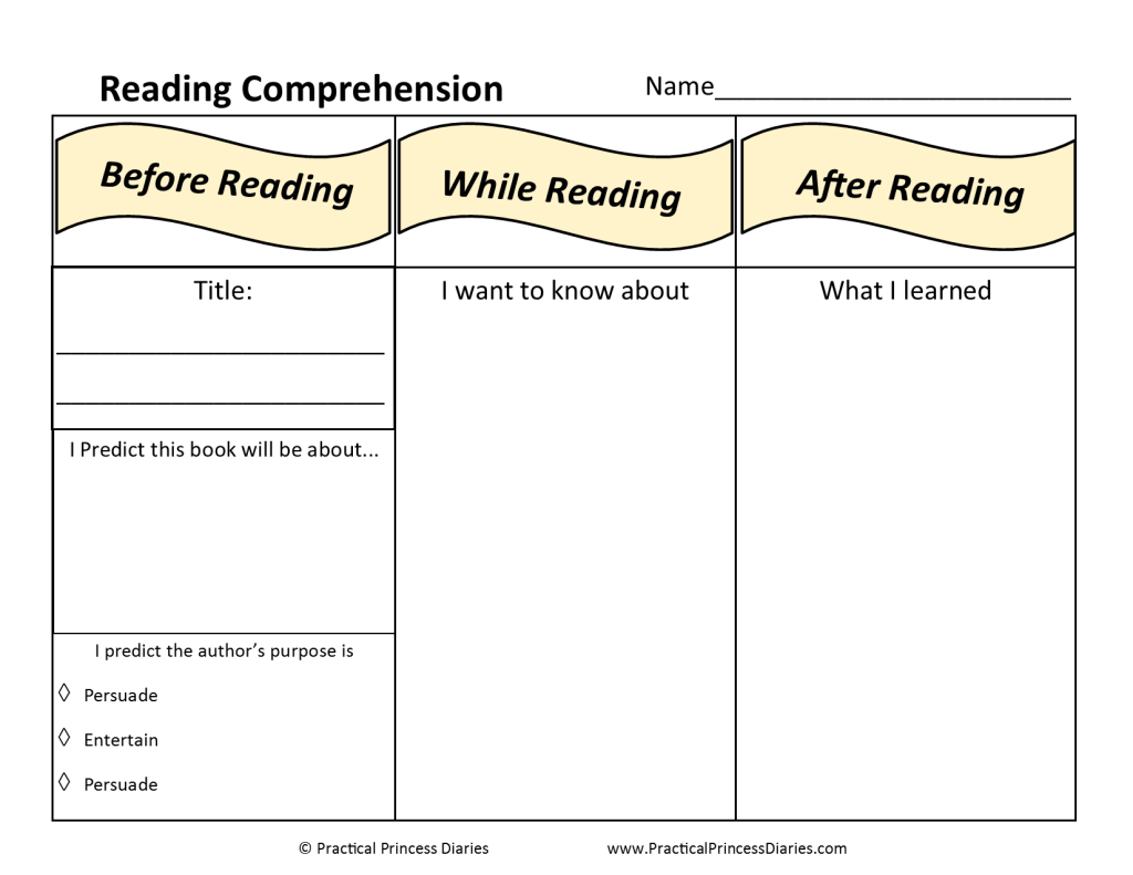 Reading Comprehension Worksheet Freebie Homeschool