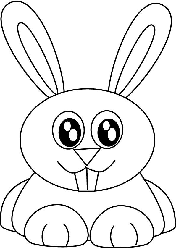 Bunny Rabbit Coloring Picture Hd Wallpaper