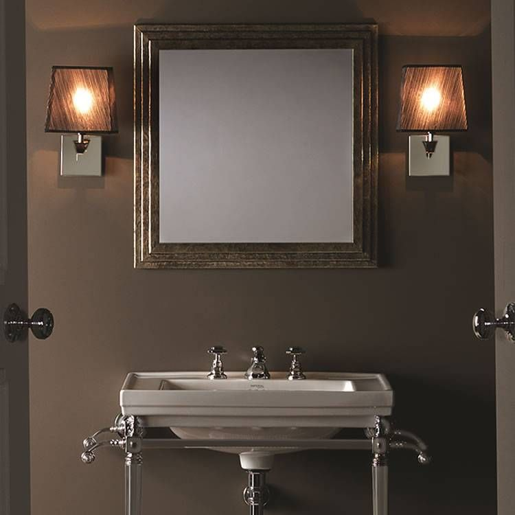 Imperial Astoria Wall Light With Black Fabric Shade Fabric Shades Wall Lights Victorian Bathroom