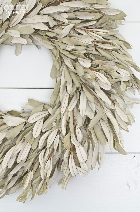 Beautiful Large Dried Sage Wreath Spring Home Dried Wreath Large Wreath