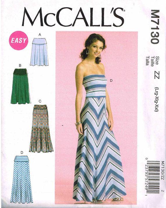 Strapless long dress pattern
