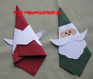 Weihnachtsmann-Serviettenhalter von hinten | Servietten ...