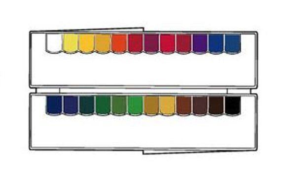 Mission Gold Class Pans Watercolors 24 Colors With Palette Set