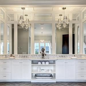 Vanity Chandeliers Transitional Kitchen Clark And Co Homes Modern White Bathroom Master Bathroom Vanity Bathroom Chandelier