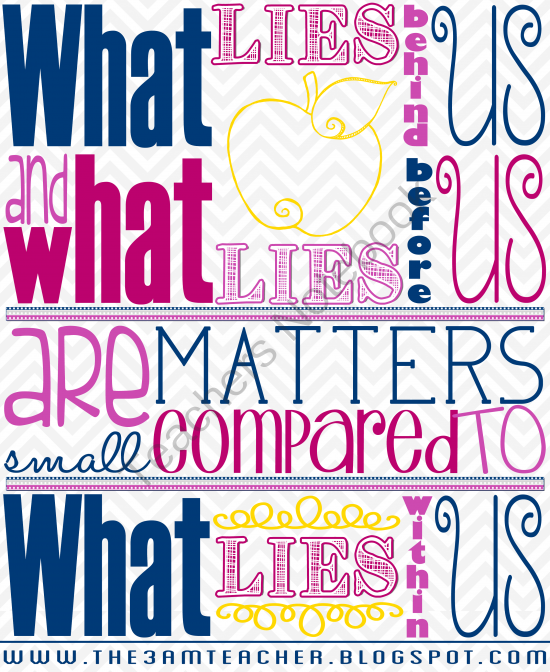 FREE Printable- Inspirational Poster from The 3AM Teacher Designs ...