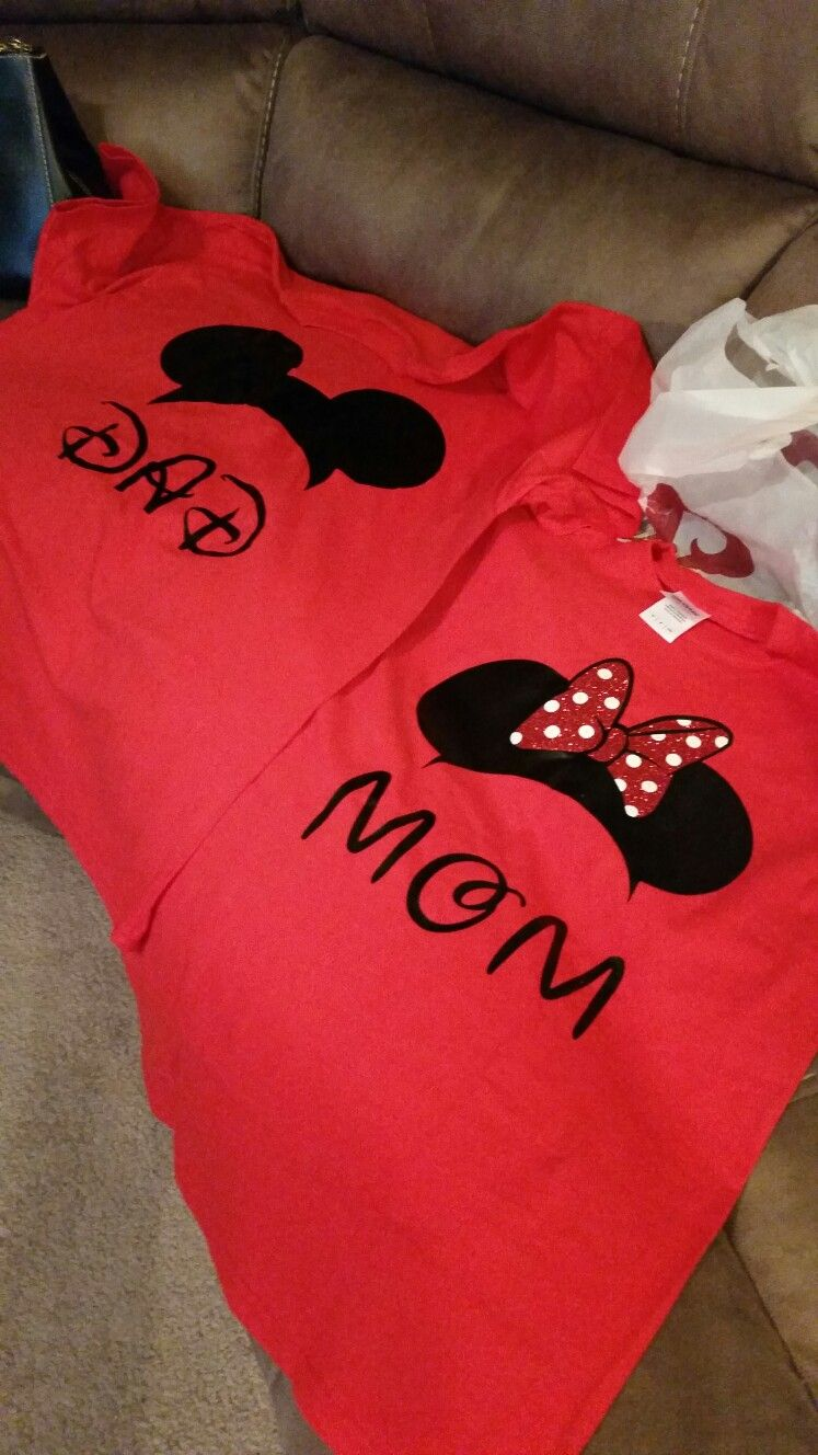 Mom & Dad Minnie Mouse Shirts Minnie mouse birthday
