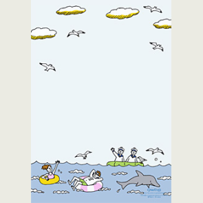 Briefpapier:Seebad 0002 - Sommer - Briefpapier - Geschenke & Karten - Canon CREATIVE PARK