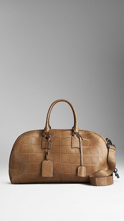 Haute Menswear Piel Cocodrilo de Bolsa Couture Viaje amp; Burberry xvqwwX0tn