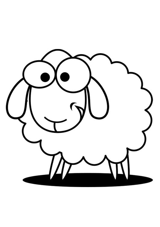 Coloring Page Sheep Sheep Drawing Sheep Outline Coloring Pages
