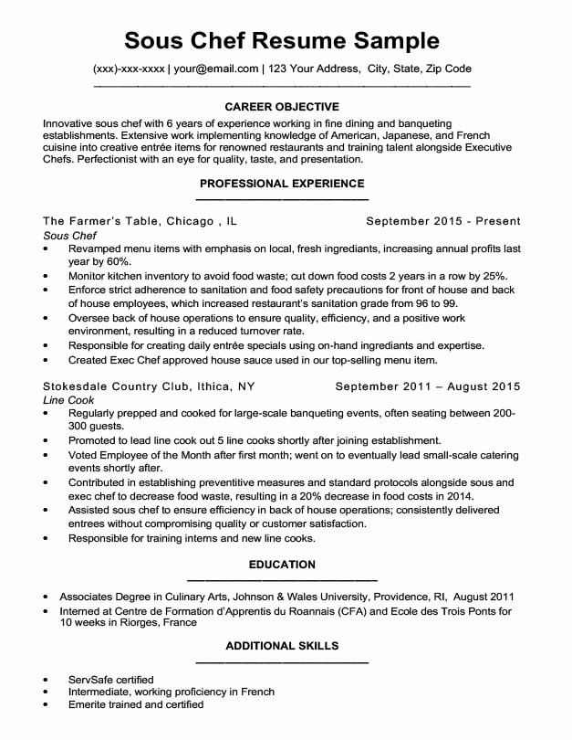 Line Cook Resume Examples Lovely Downloadable Chef Resume Samples Writing Tips Job Resume Examples Resume Examples Chef Resume