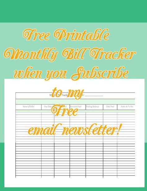 free, printable, download, bills, bill, organizer, spreadsheet