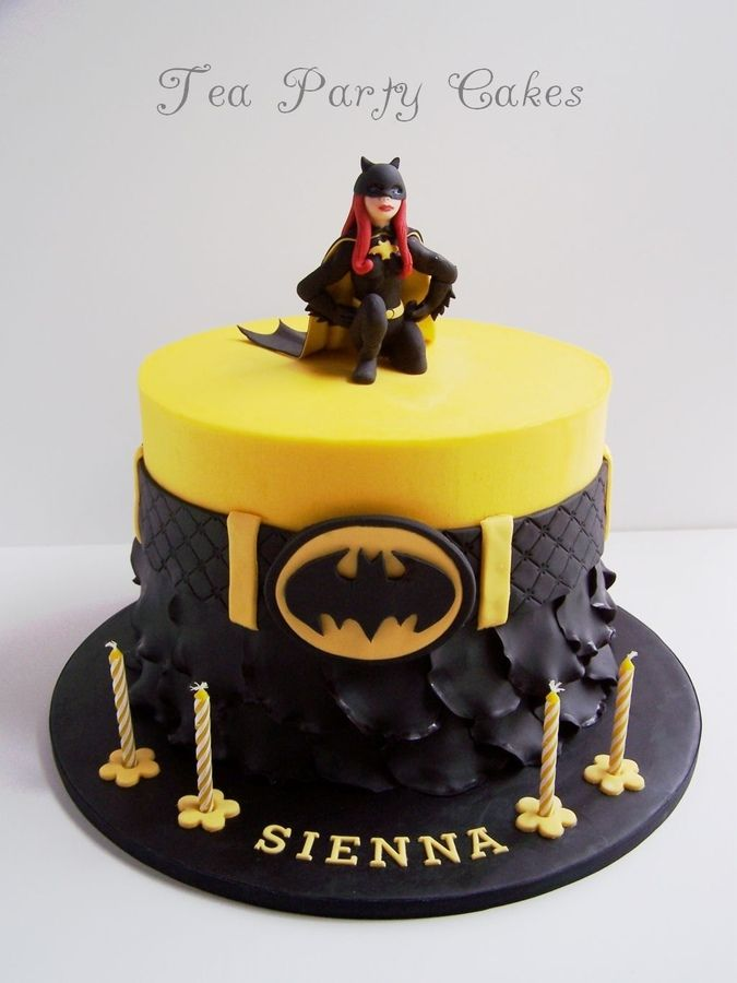 Batgirl cake made for a little girl turning 4 This is an 8 inch