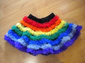 Cancan skirt flounces in multi colours
