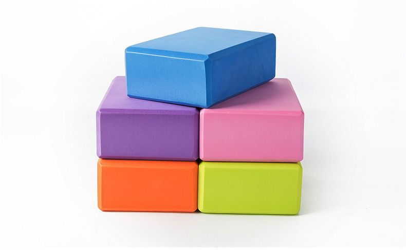 c9a49f1d6537d 5 Colors Pilates EVA Yoga Block Brick Sports Exercise Gym Foam Workout  Stretching Aid Body Shaping Health Training