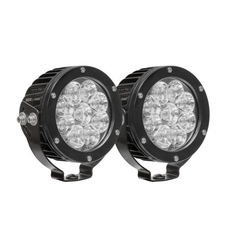 Westin Axis Led Auxiliary Light 4 75 Inch Round Flood W 3w Osram Set Of 2 Black Led Things To Sell Off Road Led Lights