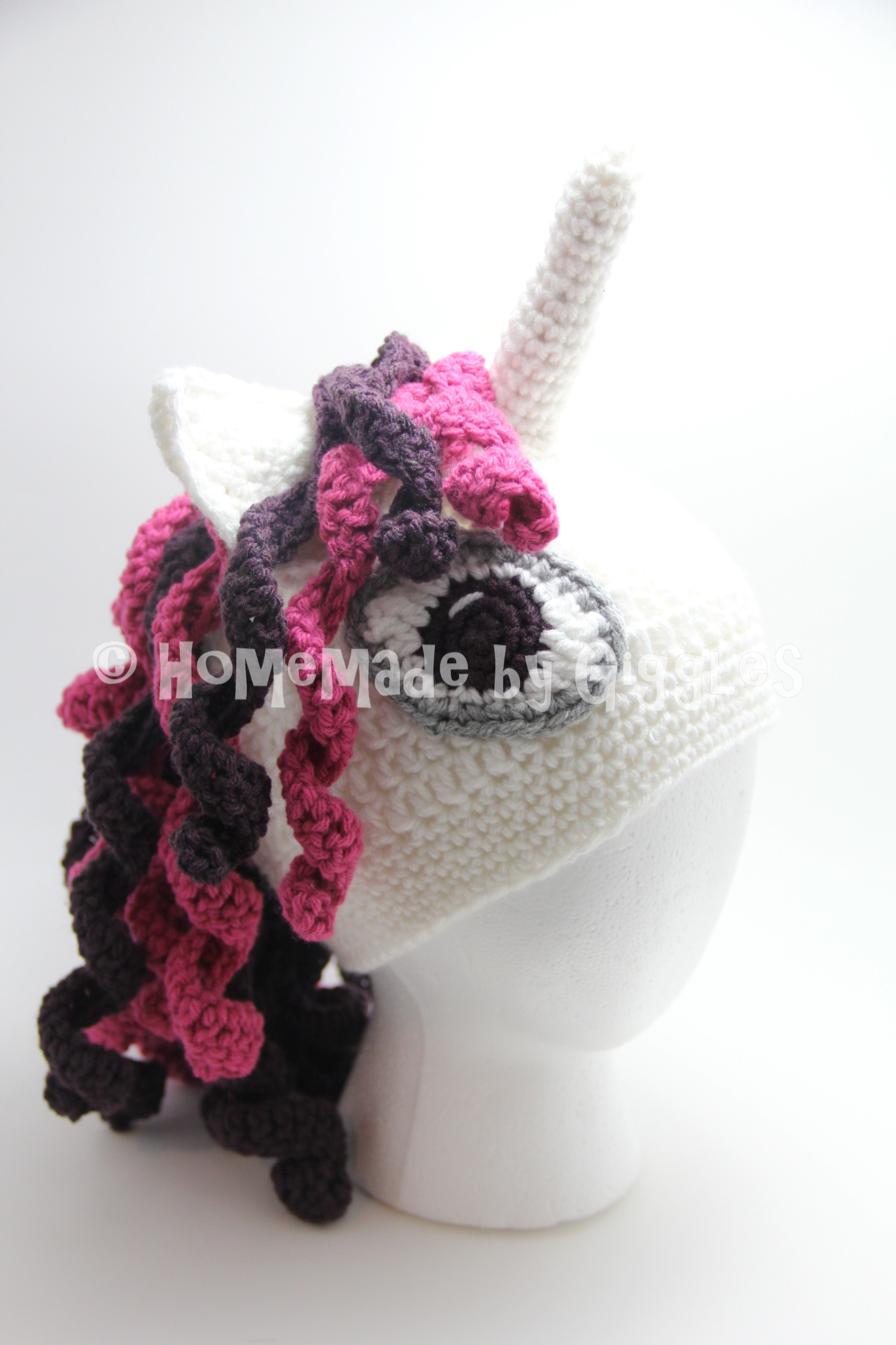 Free pattern for this crochet unicorn hat homemade by giggles