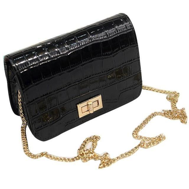 Golden Chain Leather Cross Body Bag – Festyl  festyl  fashionist   instastyle  stylish 1cb37d2c3c35f