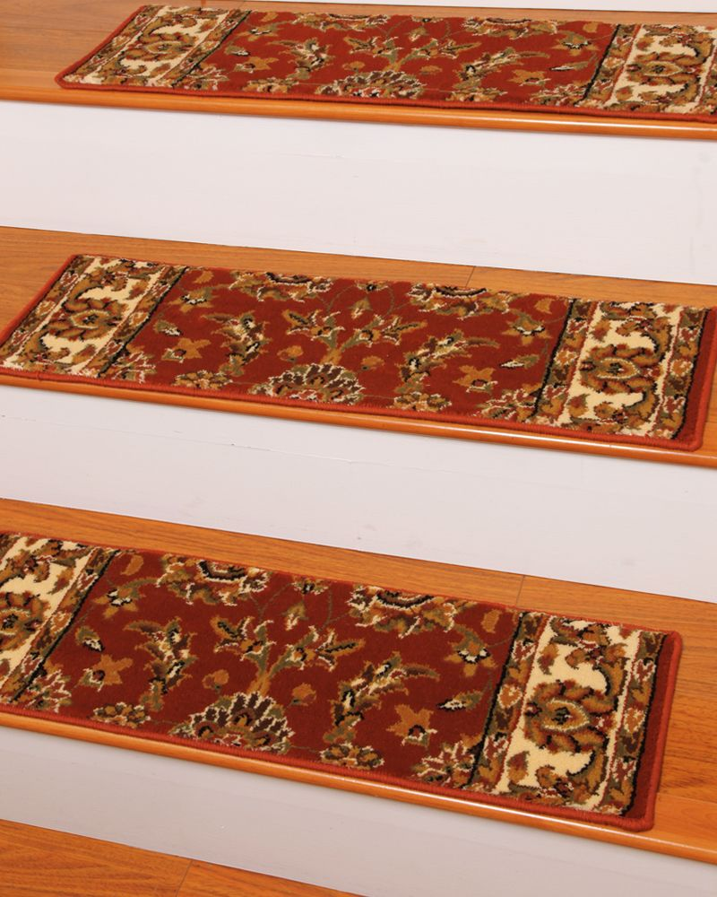 Sydney Carpet Stair Treads Red Set of