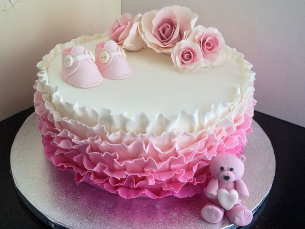 1 Layer Baby Shower Cakes Made Easy With Images Pink Baby