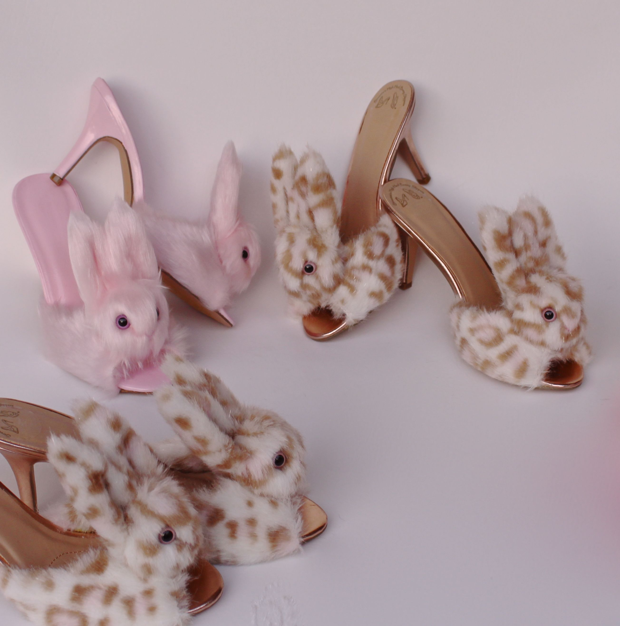1533968cf11e Streetzies … high heel bunny slippers in pink