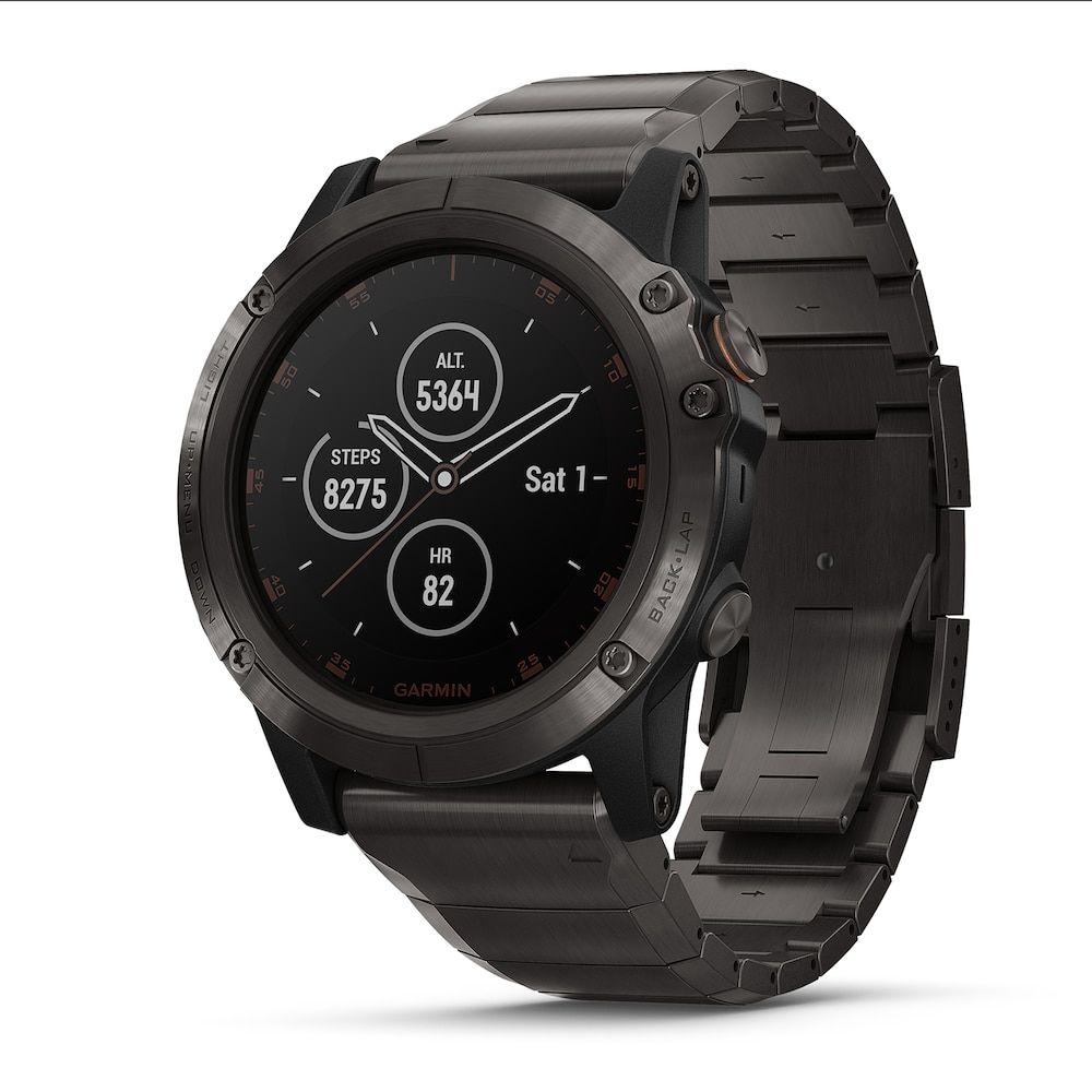 Garmin Fenix 5 Plus Smartwatch Sapphire Carbon Gray Dlc Titanium