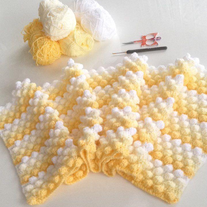 """????Örgüyedair???? on Instagram: """"????Günaydın????#mutlusabahlar ????#bobblestitch #battaniye #bebekbattaniyesi #babyblanket #bebekhediyesi #handmade #crochet #crochetblanket…"""" #crochetbabycocoon"""