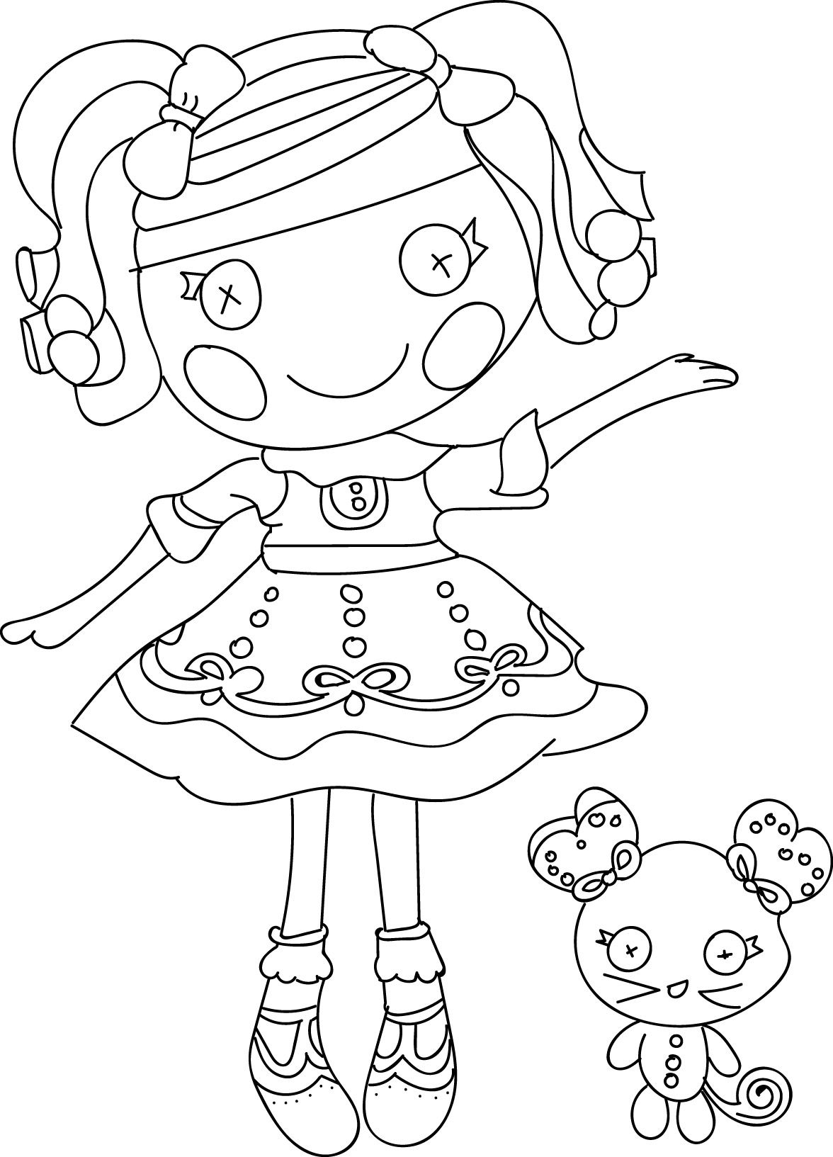 Lalaloopsy Cartoon Coloring Pages Lalaloopsy Cartoon and Clothing