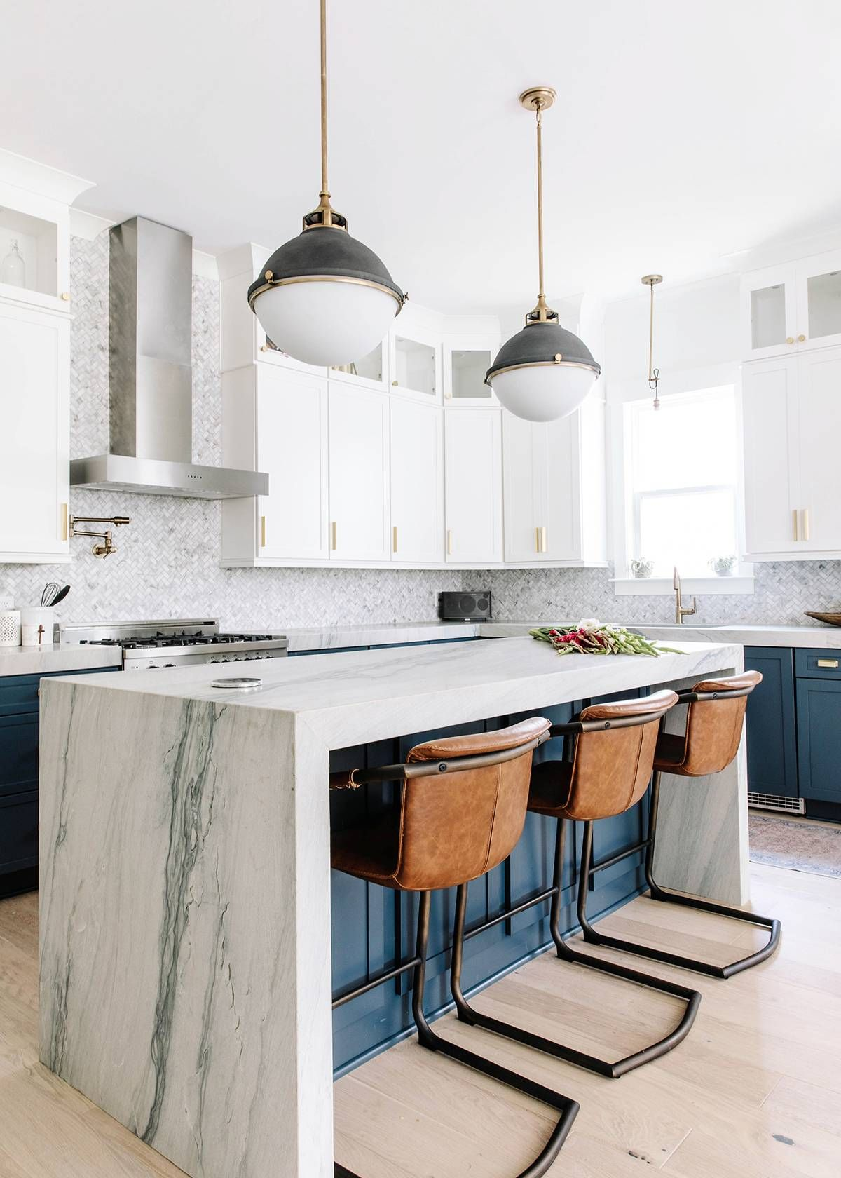 Striking Blue Cabinetry Is Just The Beginning In This Quaint North