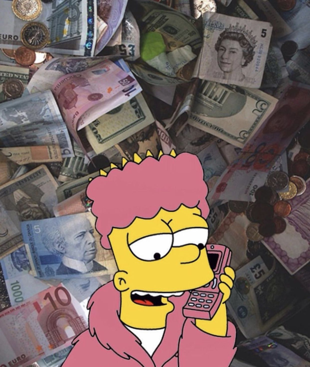 Pin By 𝓷𝓲𝓸𝓶𝓲 On Moods Simpson Wallpaper Iphone Cute