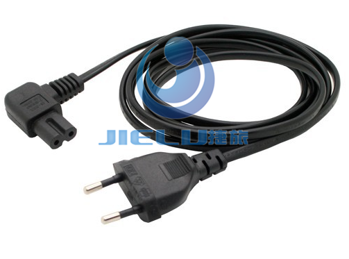 5m 1 Pcs European 2pin Male Plug To Angled Iec320 C7 Female Socket Power Cable Eu Power Adapter Cord Electrical Equipment Lcd Tv Power Cable