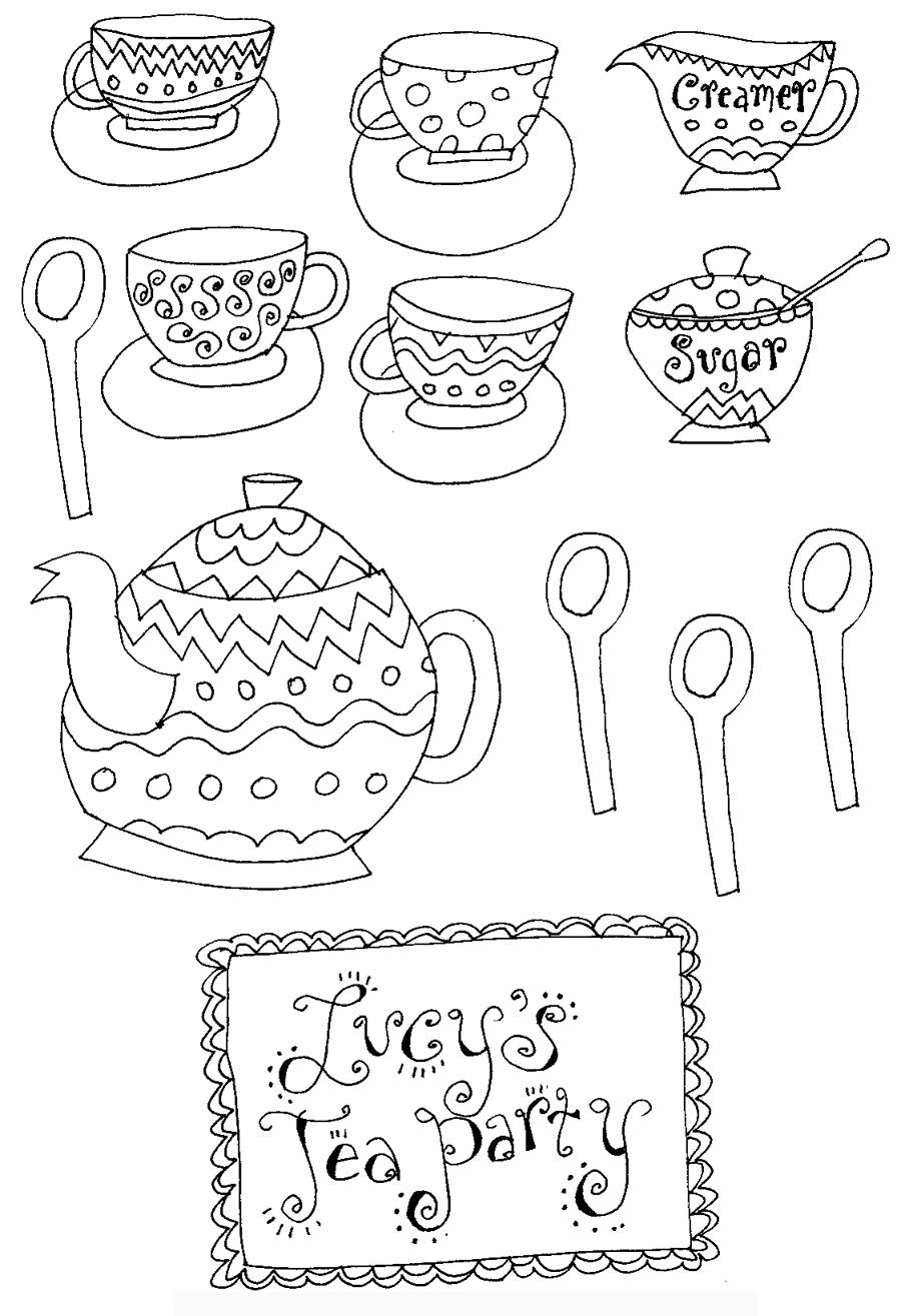 Sally Lee Books  Coloring pages, Tea party, Free printable