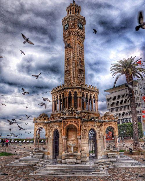 Izmir Saat Kulesi By At Fuzulitugrul On Instagram Yağlı Boya