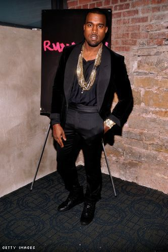 Kanye West Looked Dapper Yesterday In This Black Tuxedo To Host A Preview Of His Film Runaway Held At New York S Kanye West Style Kanye Fashion Kanye West
