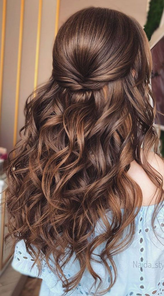 Gorgeous Half up hairstyles - 45 Stylish Ideas