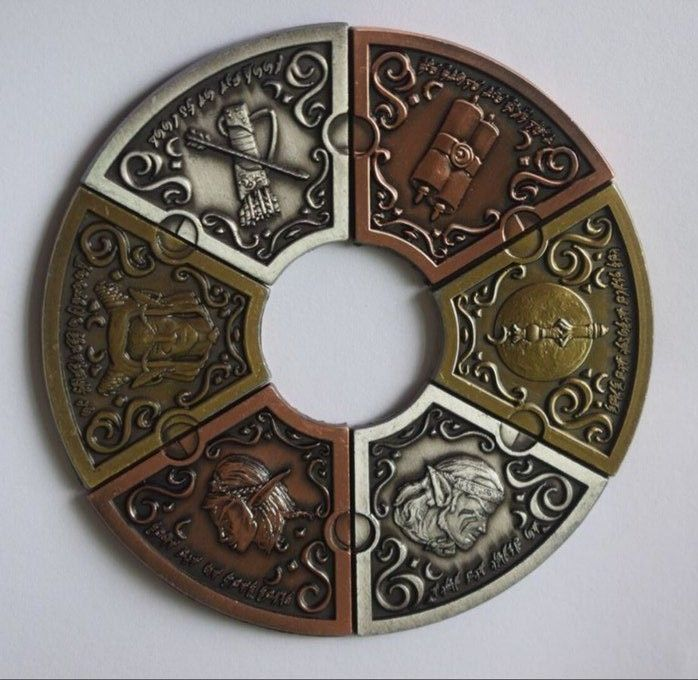 Accessories And Dice 44112: 6Pc Moon Elf Coin Set Elf Larp