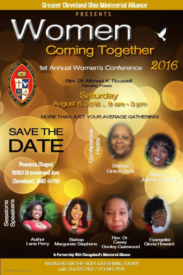 Greater cleveland ohio ministerial alliance presents their 1st greater cleveland ohio ministerial alliance presents their 1st annual womens conference on saturday august 6 publicscrutiny Gallery
