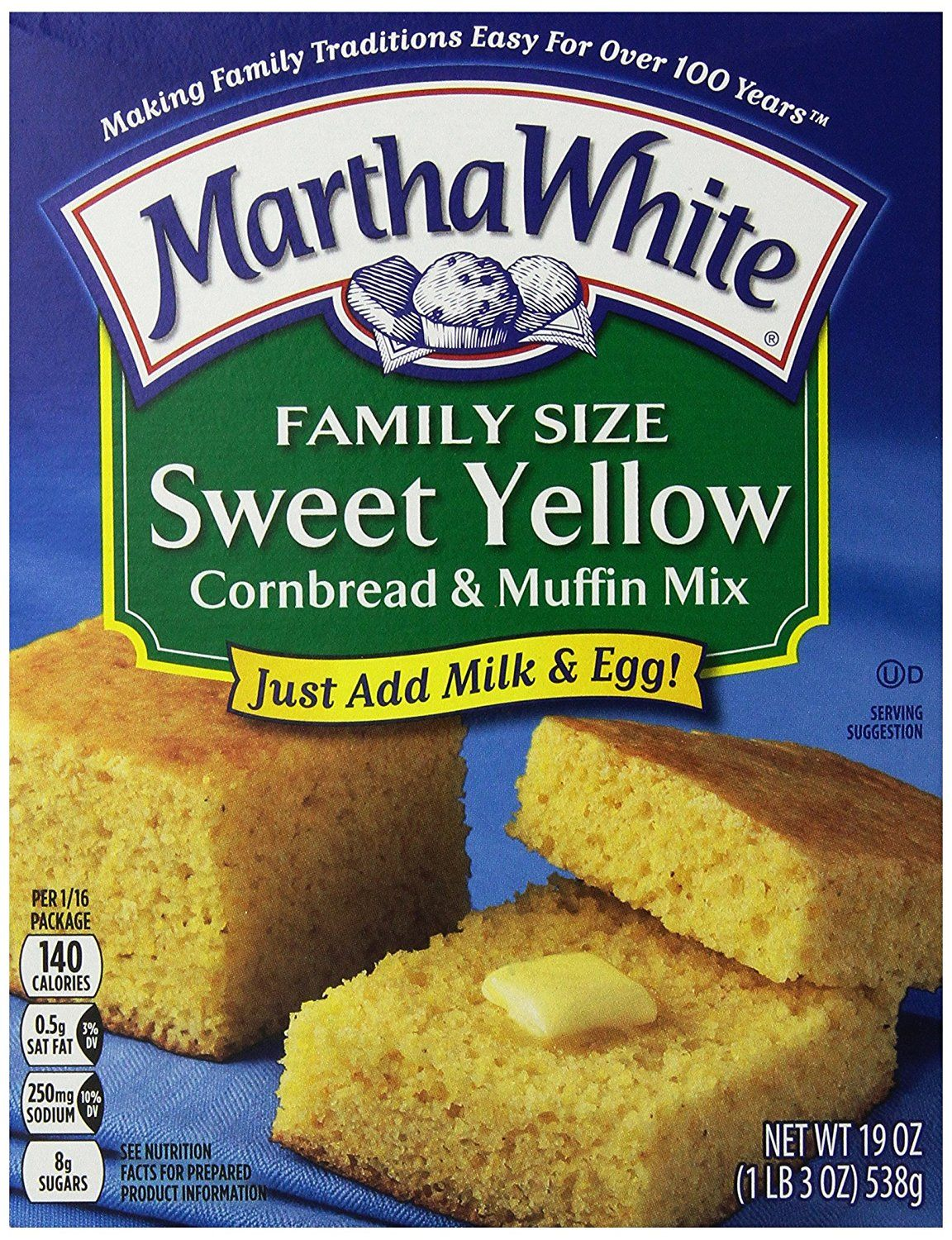 Martha White Family Size Sweet Yellow Cornbread And Muffin Mix 19 Ounce Pack Of 12 Visit The Image Link Mo Martha White Yellow Cornbread Sweet Cornbread
