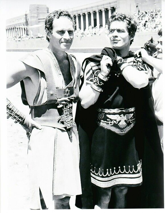 Ben Hur....1959, Stephen Boyd and Charlton Heston #benhur1959