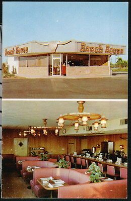 POMPANO BEACH FL Ranch House Restaurant Vintage Florida Postcard. I remember eating here!