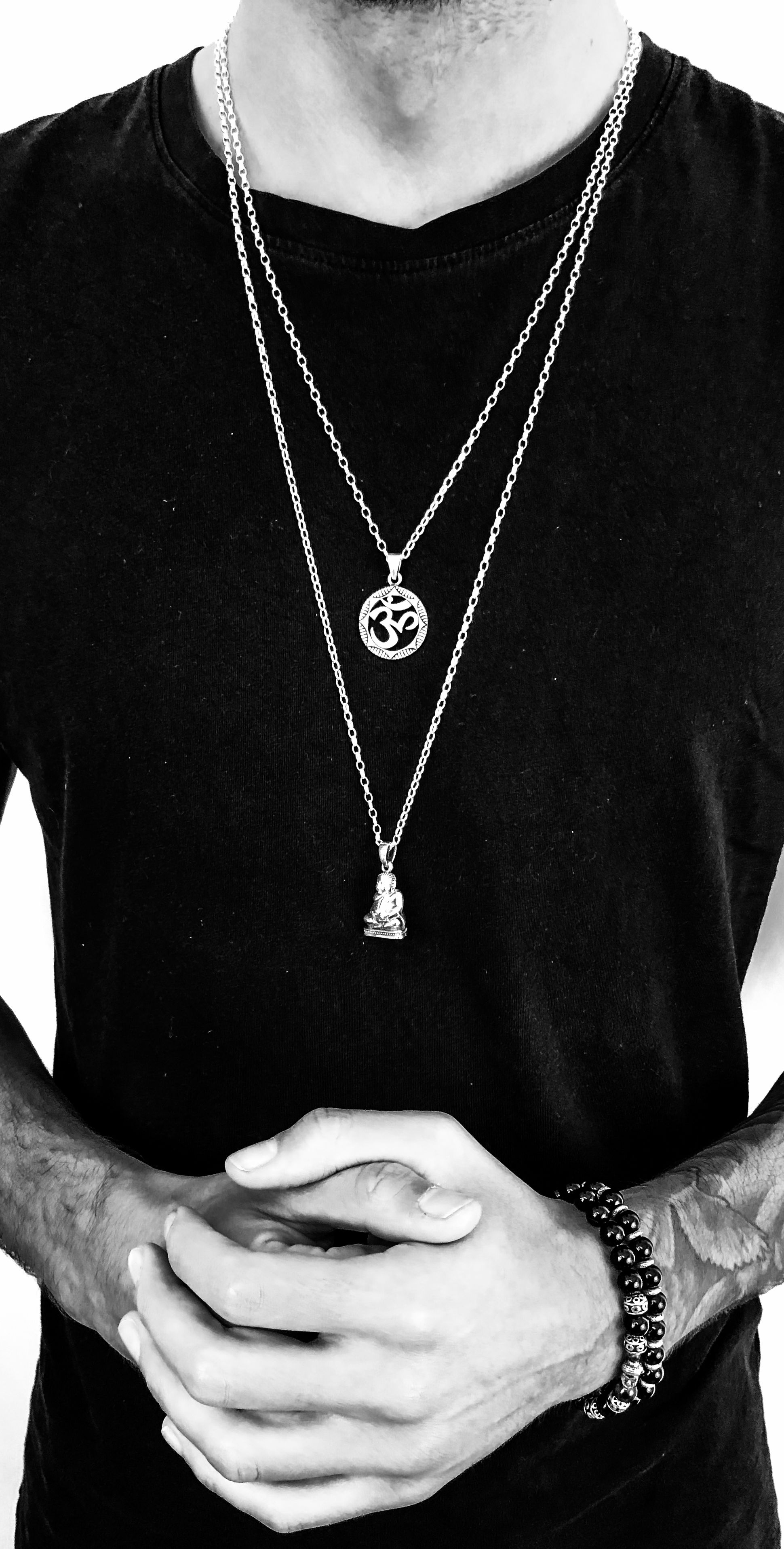 869379c71ba59 Om  Silver Necklace in 2019